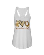 Peace love hoof shirt Ladies Flowy Tank thumbnail