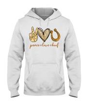 Peace love hoof shirt Hooded Sweatshirt thumbnail