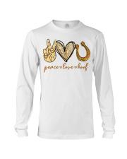 Peace love hoof shirt Long Sleeve Tee thumbnail