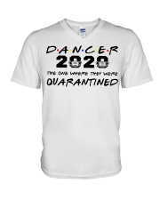 Dancer 2020 The one where they were Quarantined  V-Neck T-Shirt thumbnail