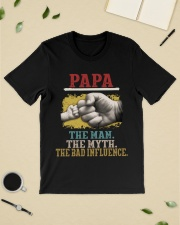 Papa the man the myth the bad influence  Classic T-Shirt lifestyle-mens-crewneck-front-19