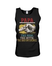 Papa the man the myth the bad influence  Unisex Tank thumbnail