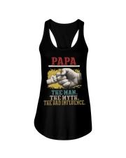 Papa the man the myth the bad influence  Ladies Flowy Tank thumbnail