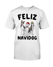 Feliz Navidog Husky Christmas Classic T-Shirt thumbnail