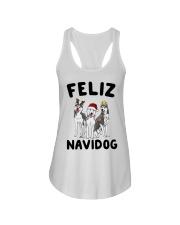 Feliz Navidog Husky Christmas Ladies Flowy Tank thumbnail