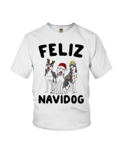 Feliz Navidog Husky Christmas Youth T-Shirt thumbnail