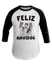 Feliz Navidog Husky Christmas Baseball Tee thumbnail