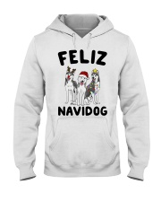 Feliz Navidog Husky Christmas Hooded Sweatshirt tile
