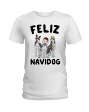 Feliz Navidog Husky Christmas Ladies T-Shirt thumbnail