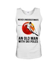 Never Underestimate an ski poles  Unisex Tank thumbnail