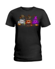 Love Jeeps Halloween Pumpkin Halloween shirt Ladies T-Shirt thumbnail
