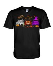 Love Jeeps Halloween Pumpkin Halloween shirt V-Neck T-Shirt thumbnail
