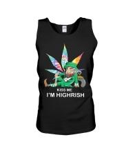 Irish Weed Hippie Kiss me I'm Highrish shirt Unisex Tank thumbnail