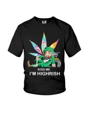 Irish Weed Hippie Kiss me I'm Highrish shirt Youth T-Shirt thumbnail
