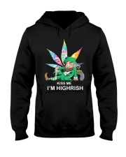 Irish Weed Hippie Kiss me I'm Highrish shirt Hooded Sweatshirt thumbnail