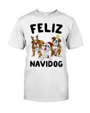 Feliz Navidog Bulldog Dog Christmas Classic T-Shirt thumbnail