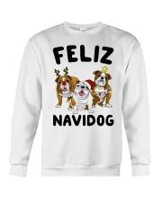 Feliz Navidog Bulldog Dog Christmas Crewneck Sweatshirt front