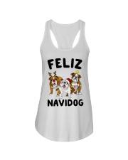 Feliz Navidog Bulldog Dog Christmas Ladies Flowy Tank thumbnail