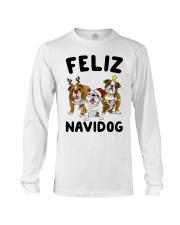 Feliz Navidog Bulldog Dog Christmas Long Sleeve Tee thumbnail