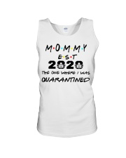 Mommy EST 2020 The one where I was Quarantined  Unisex Tank thumbnail