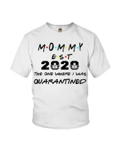 Mommy EST 2020 The one where I was Quarantined  Youth T-Shirt thumbnail