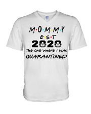 Mommy EST 2020 The one where I was Quarantined  V-Neck T-Shirt thumbnail
