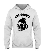 Skull and Cat ew People shirt Hooded Sweatshirt thumbnail
