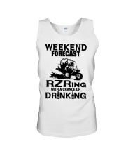 Weekend forecast RZRing with chance of Drinking  Unisex Tank tile