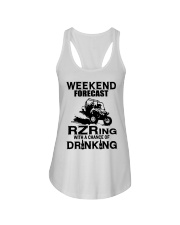 Weekend forecast RZRing with chance of Drinking  Ladies Flowy Tank thumbnail