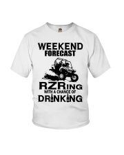 Weekend forecast RZRing with chance of Drinking  Youth T-Shirt thumbnail