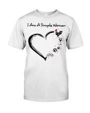 I am a simple woman Chicken shirt-shirt Classic T-Shirt front
