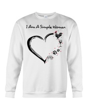 I am a simple woman Chicken shirt-shirt Crewneck Sweatshirt thumbnail