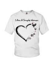 I am a simple woman Chicken shirt-shirt Youth T-Shirt thumbnail