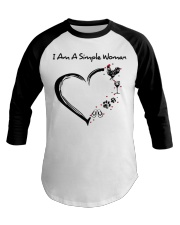 I am a simple woman Chicken shirt-shirt Baseball Tee thumbnail