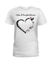 I am a simple woman Chicken shirt-shirt Ladies T-Shirt thumbnail