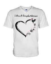 I am a simple woman Chicken shirt-shirt V-Neck T-Shirt thumbnail