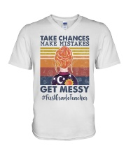 Take Chances make mistakes Get messy  V-Neck T-Shirt thumbnail