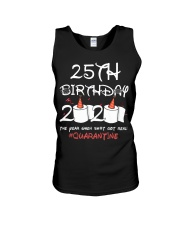 25th birthday 2020 the year when shit got real Unisex Tank thumbnail