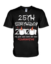 25th birthday 2020 the year when shit got real V-Neck T-Shirt thumbnail