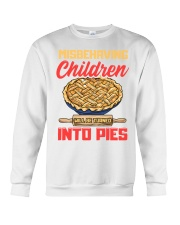 Misbehaving Children will be turned into pies Crewneck Sweatshirt front