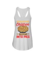 Misbehaving Children will be turned into pies Ladies Flowy Tank thumbnail