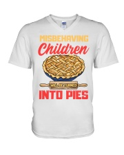 Misbehaving Children will be turned into pies V-Neck T-Shirt thumbnail