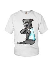 Pitbull tattoo I love Grandpa shirt Youth T-Shirt thumbnail