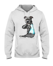 Pitbull tattoo I love Grandpa shirt Hooded Sweatshirt thumbnail