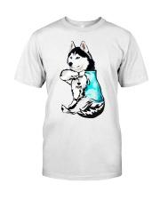 Husky Tattoo I love mom shirt Classic T-Shirt front
