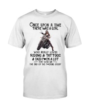 Once Upon a time there was a girl Motorbike  Classic T-Shirt front