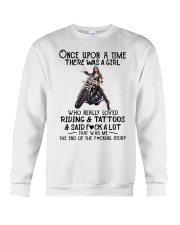 Once Upon a time there was a girl Motorbike  Crewneck Sweatshirt thumbnail
