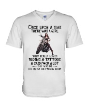Once Upon a time there was a girl Motorbike  V-Neck T-Shirt thumbnail