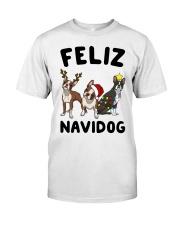 Feliz Navidog Boston Terrier Christmas Classic T-Shirt thumbnail