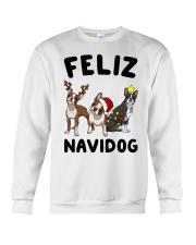 Feliz Navidog Boston Terrier Christmas Crewneck Sweatshirt front